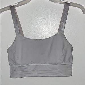 light grey lulu sports bra